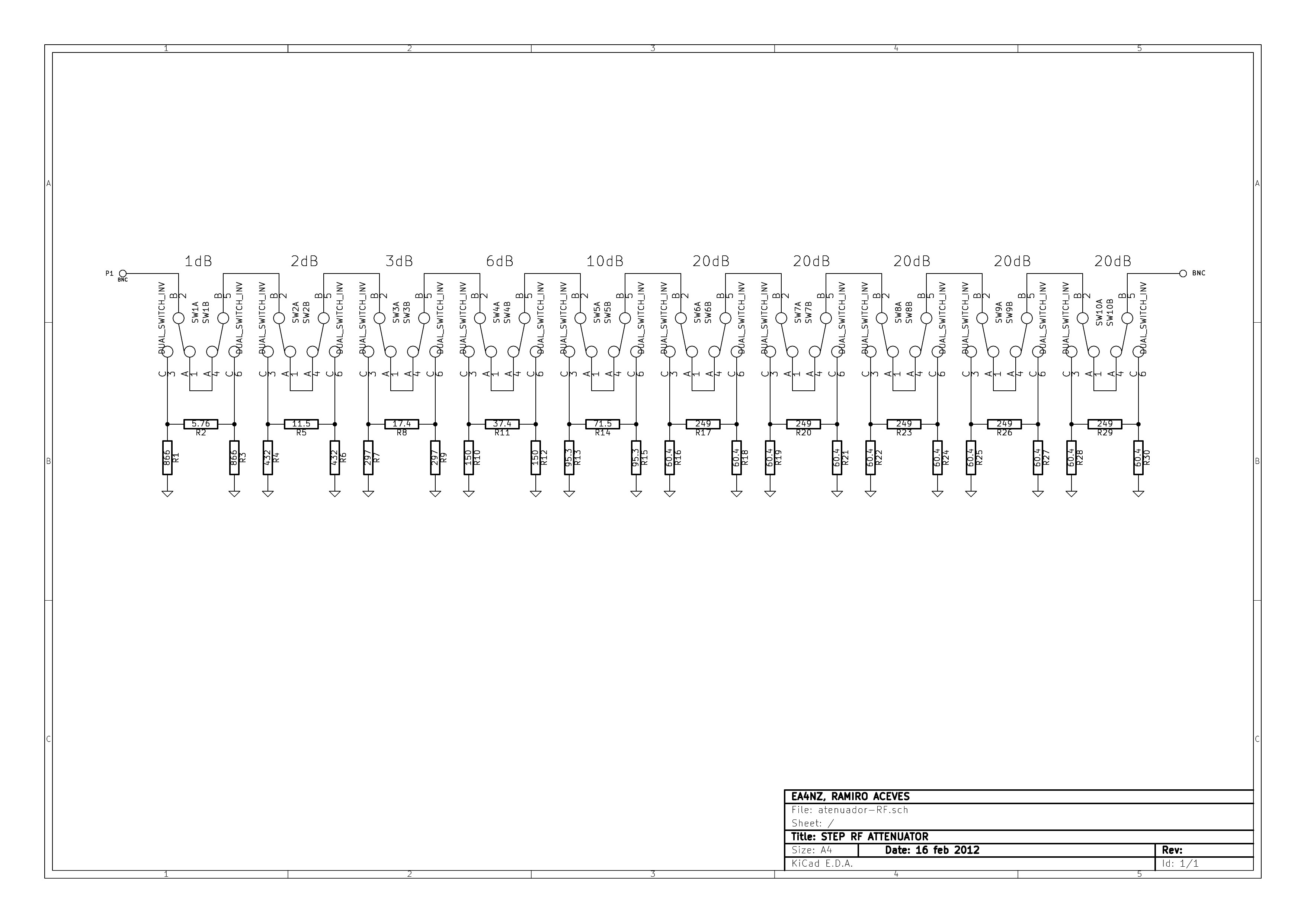 The schematic. Attenuator ...